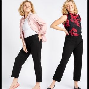 Betabrand Crop Dress Yoga Black Pants L Petite